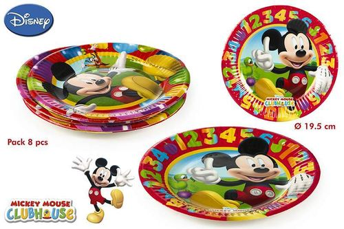 Pack 8 platos 19,5cm Mickey mouse