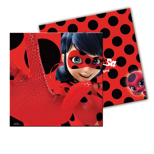 Pack 20 servilletas lady Bug