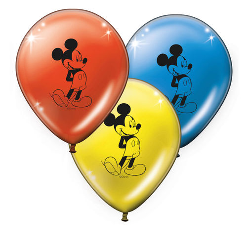 Pack 8 globos Mickey mouse