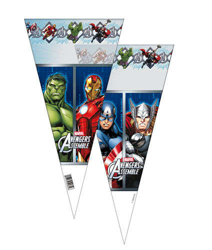 Pack 6 conos 20x40 cms Avengers