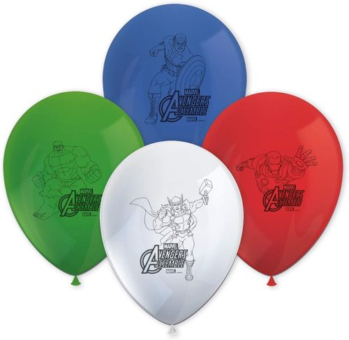 Pack 8 globos Avengers Mighty