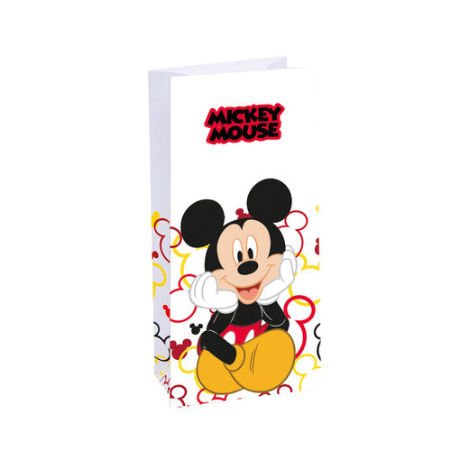 Pack 6 bolsas papel Mickey Mouse 10x22cm