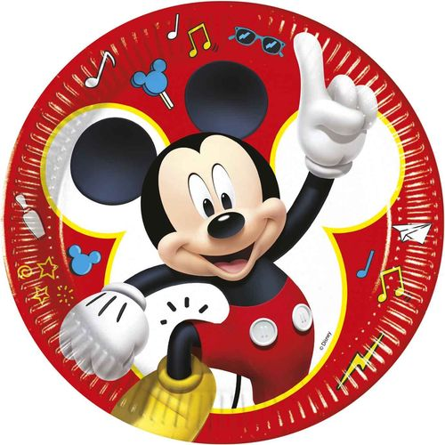Pack 8 platos 23cm Mickey mouse