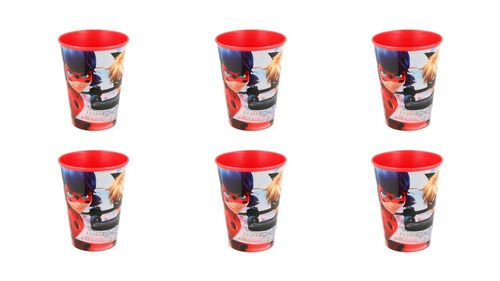 Pack 8 vasos reutilizables Lady Bug